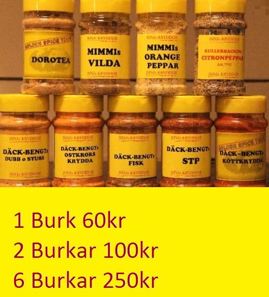kryddor pris